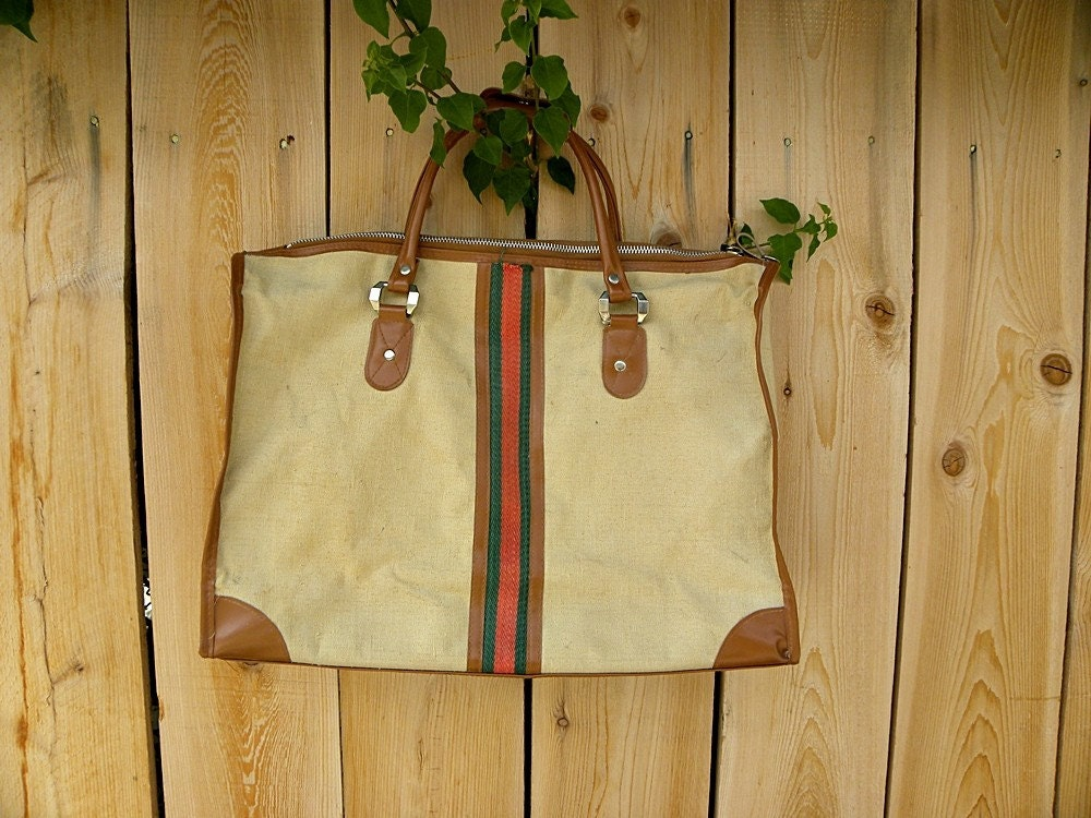 Large Vintage Travel Bag