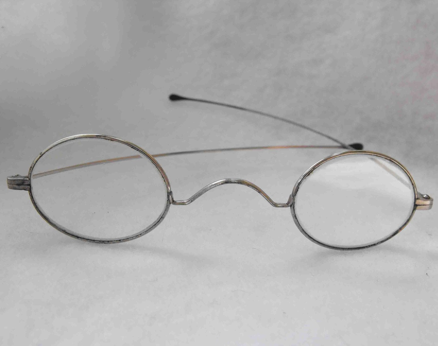 Eyeglass Frames Without Temples : Antique Eyeglasses Metal Frames ca 1880-1890 NT-358 by ...