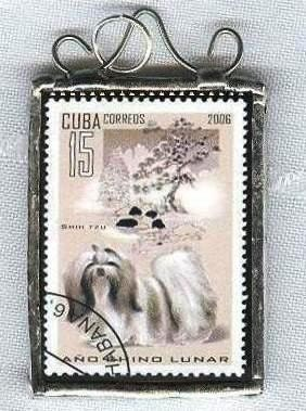 Papillon puppy postage stamps