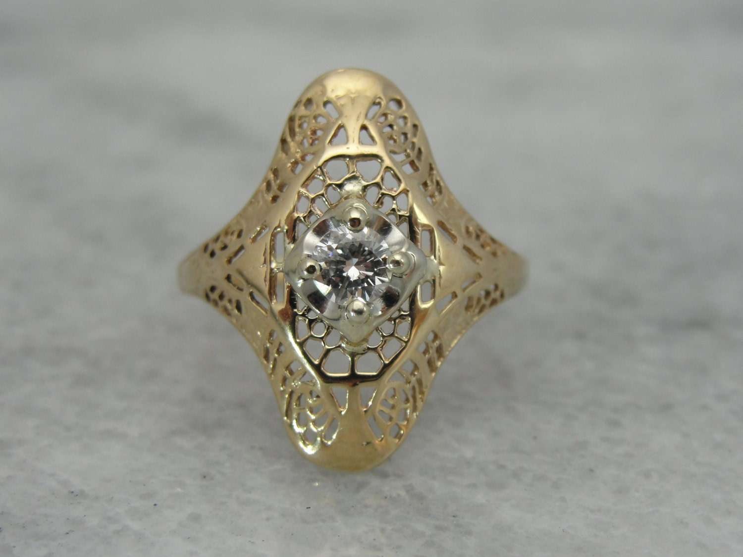 reserved vintage filigree dinner ring restored with by