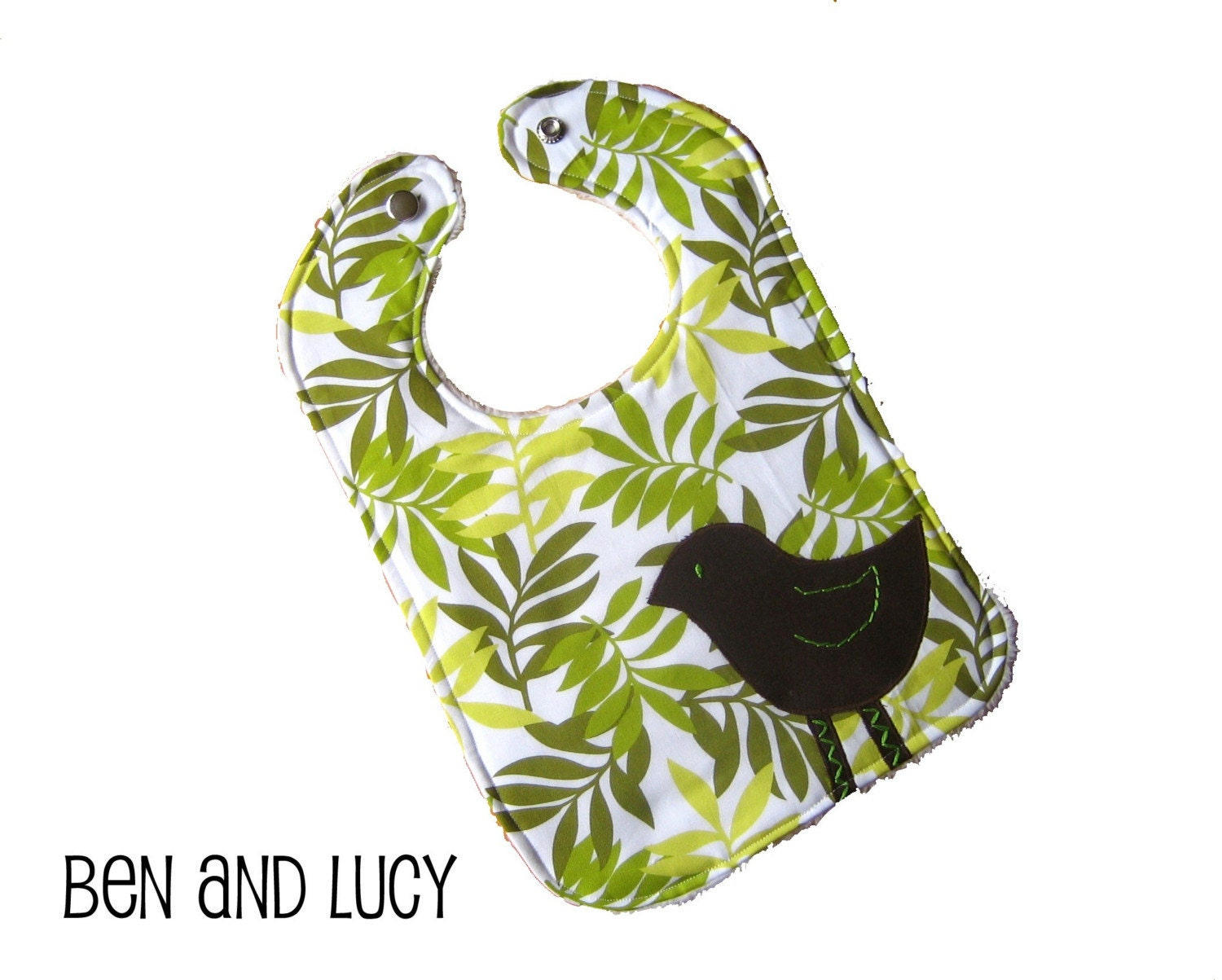 Etsy :: benandlucyboutique :: LITTLE BROWN BIRD Baby Bib