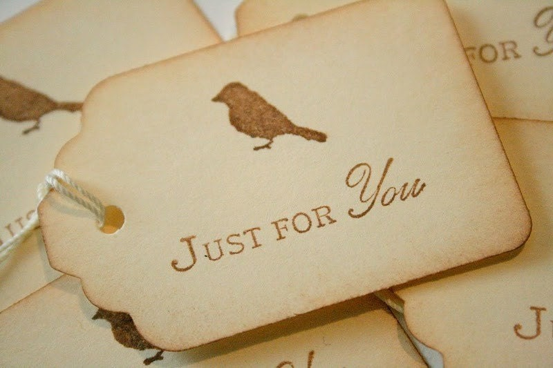 Just for You Silhouette Bird Tags