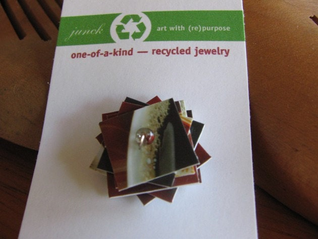 Recycled Gift Card Ring