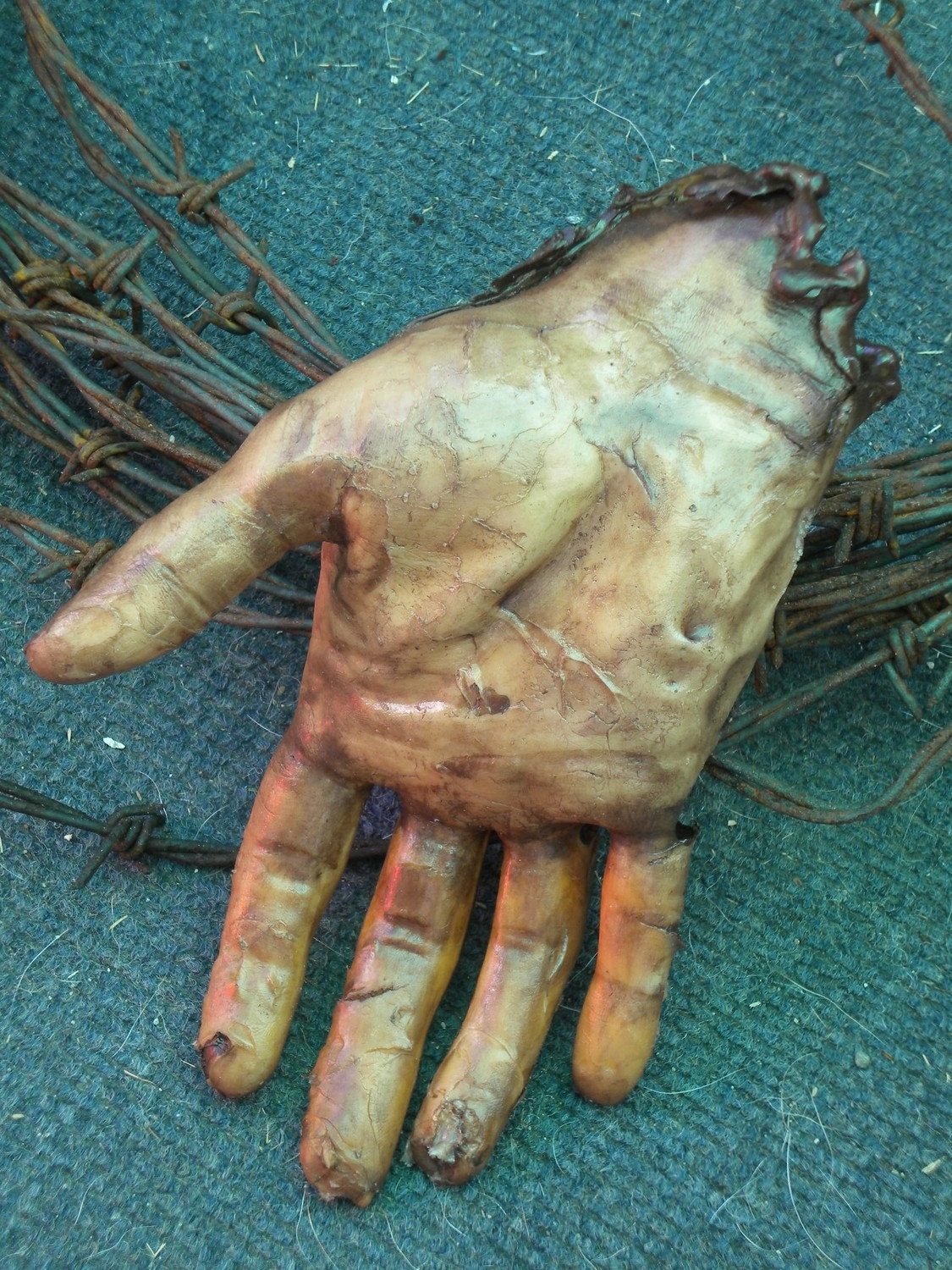 Severed Human Zombie Hand Male Right SCAB1018