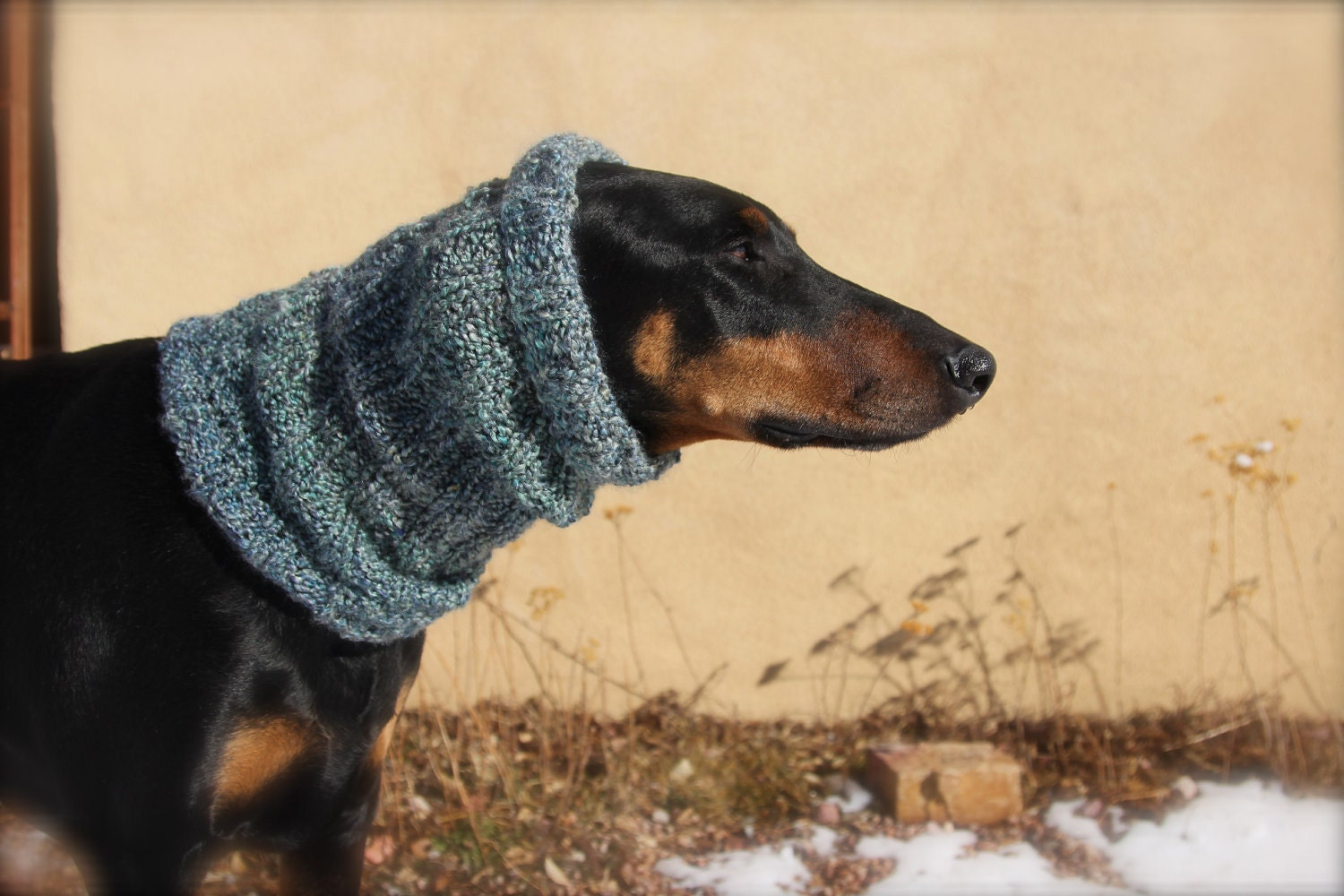 Knitting Pattern Dog Snood : Knitted Dog Snood XL Super warm extra long and by COZYHORSE