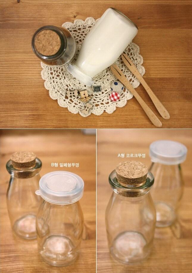 Bow Wow Clear Milk Glass Bottle -180ml