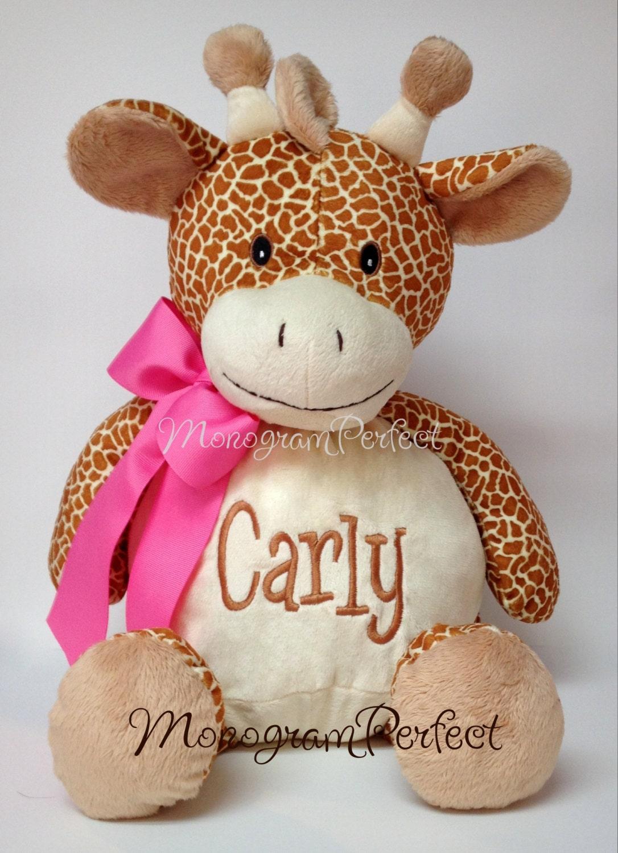 Personalized plush giraffe stuffed animal by