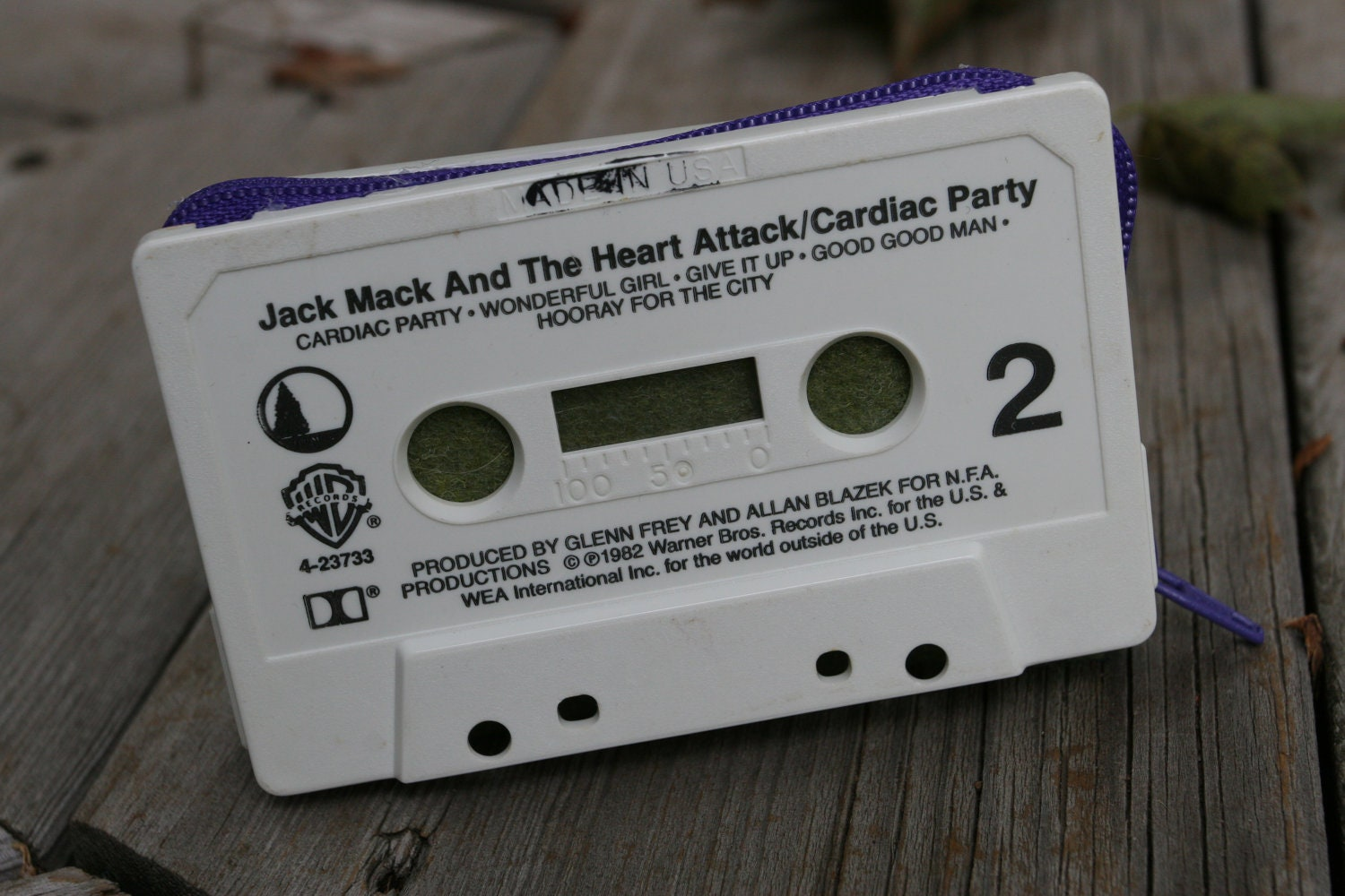 Jack Mack and the Heart Attack/ Cardiac Party- cassette tape wallet