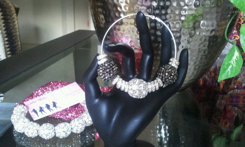 CLEARANCE Basketball Wives Bling Hoops Customized Exclusive