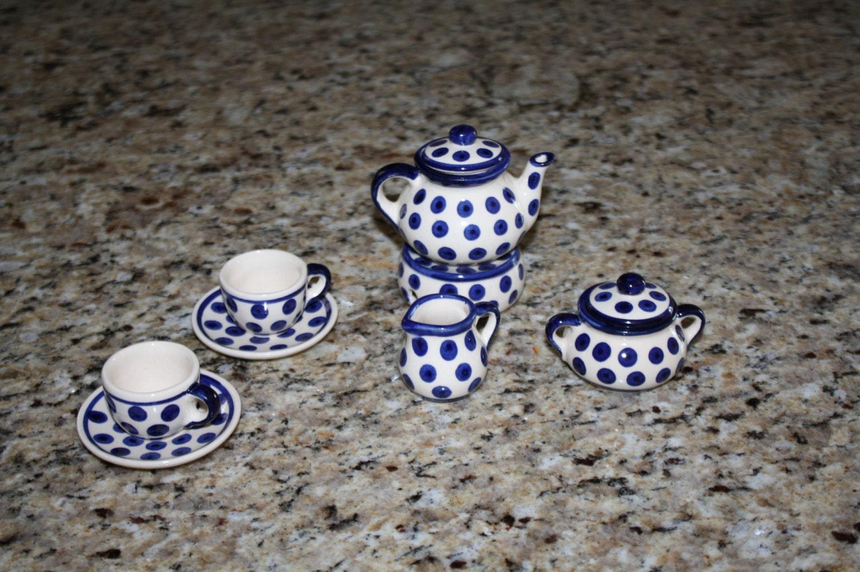 Oh So Adorable Vintage Tea Set : ... Miniature Tea set. 2 cup,saucers, sugar,creamer,tea pot..so cute