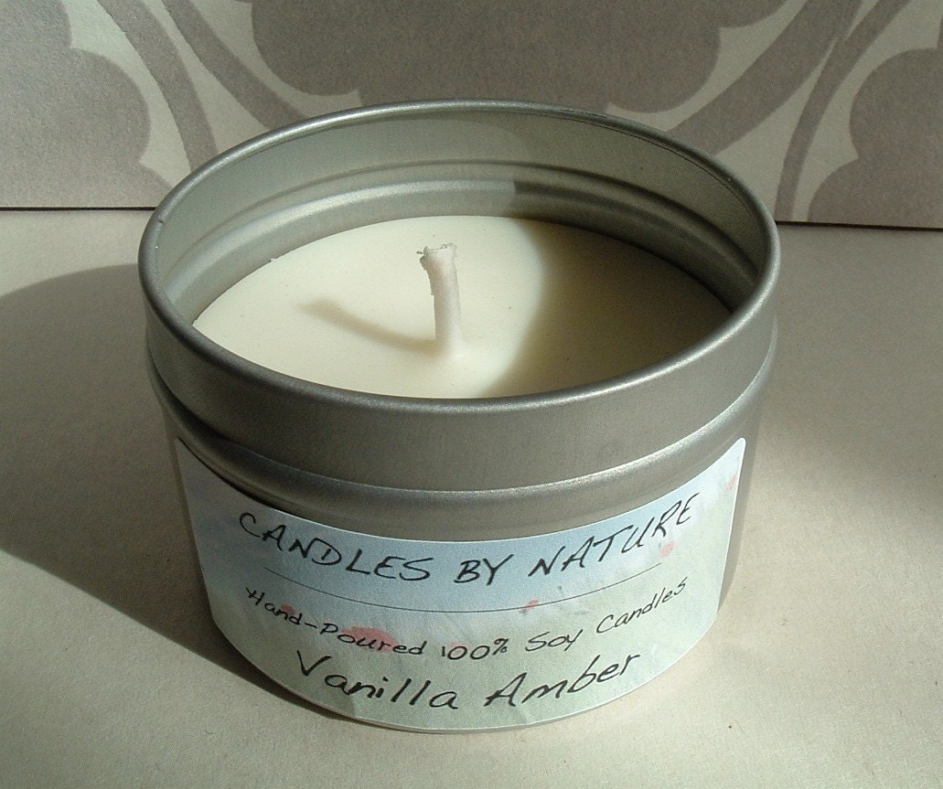 VANILLA AMBER Handcrafted Soy Candle (4 oz.)