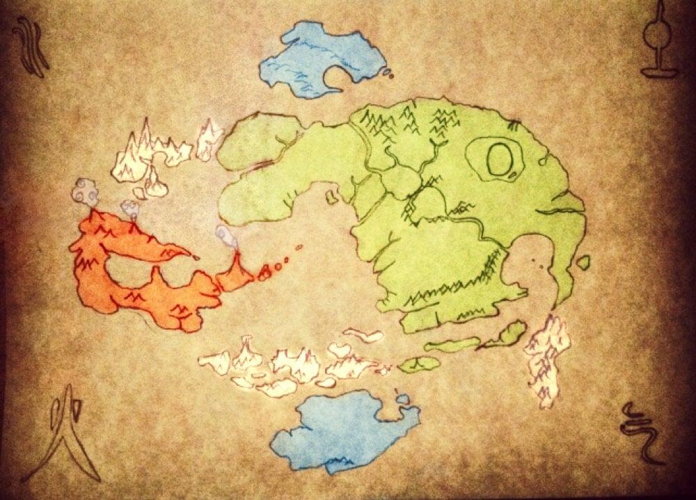 Avatar The Last Airbender World Map Hot Girls Wallpaper