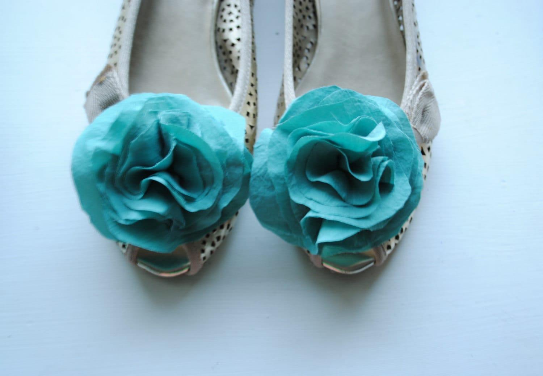 B. Poetic Shoe Clips in Tiffany Blue