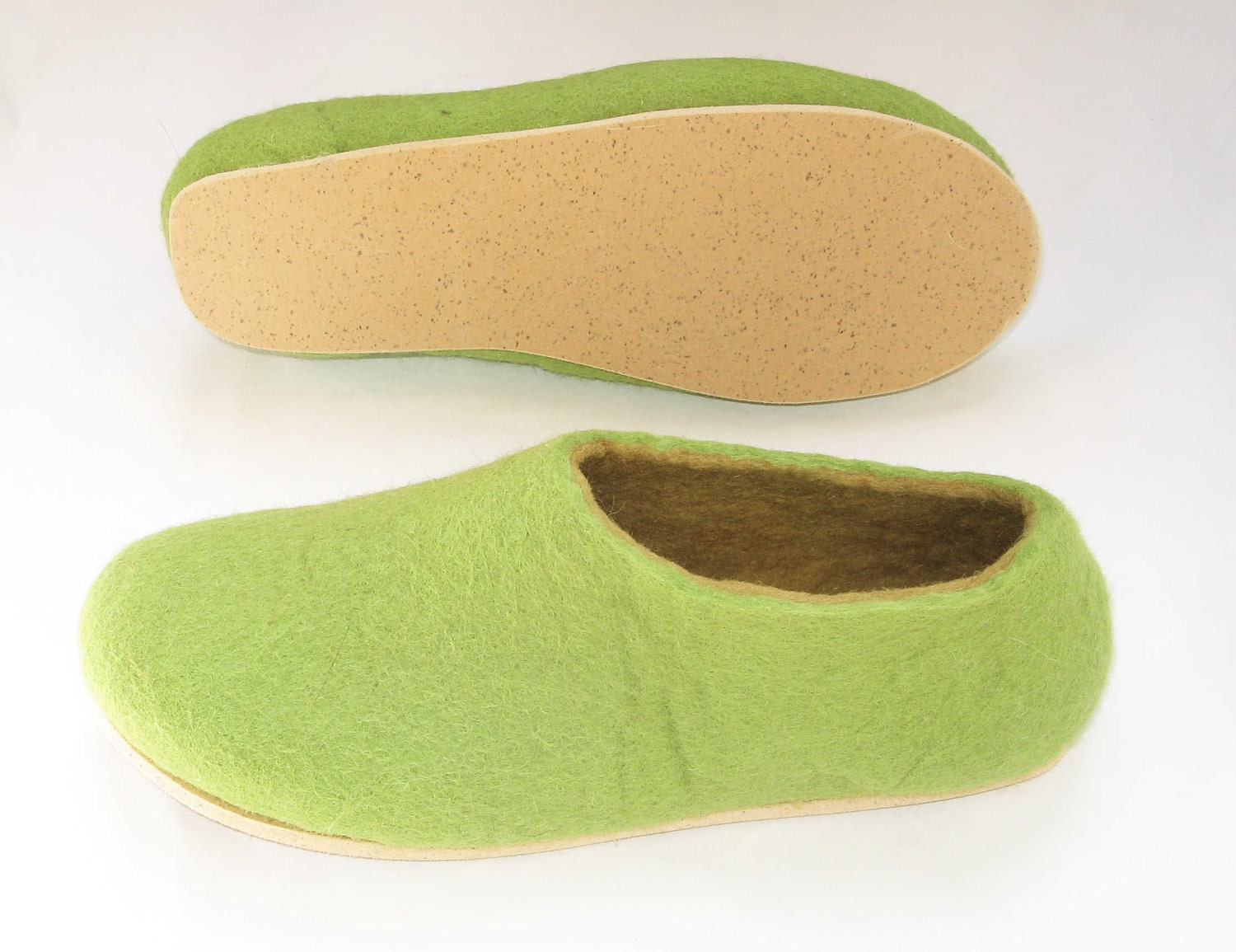 Cork Sole for Felted Slippers