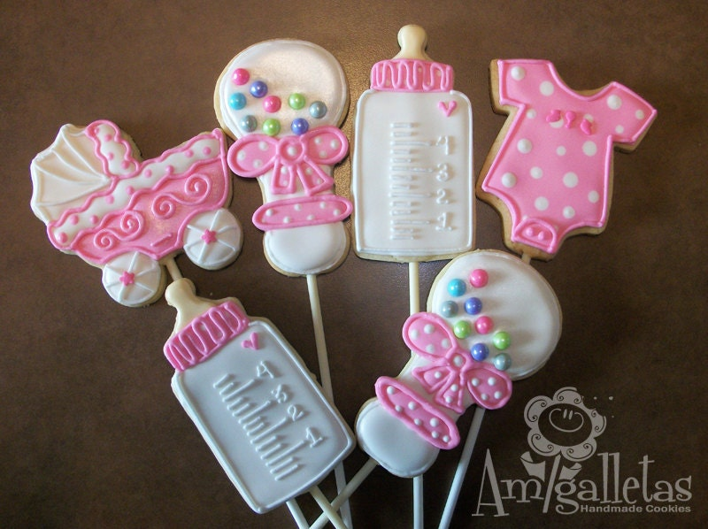 baby shower cookies by amigalletas on etsy