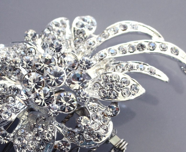 crystal Rhinestone  Hair comb Wedding Bridal Headpiece