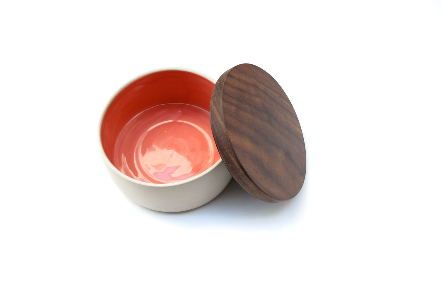 The Pink wood lidded Bowl