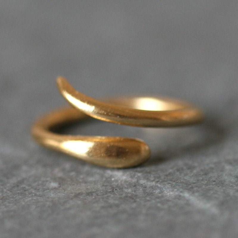 Baby Snake Ring in Gold Vermeil