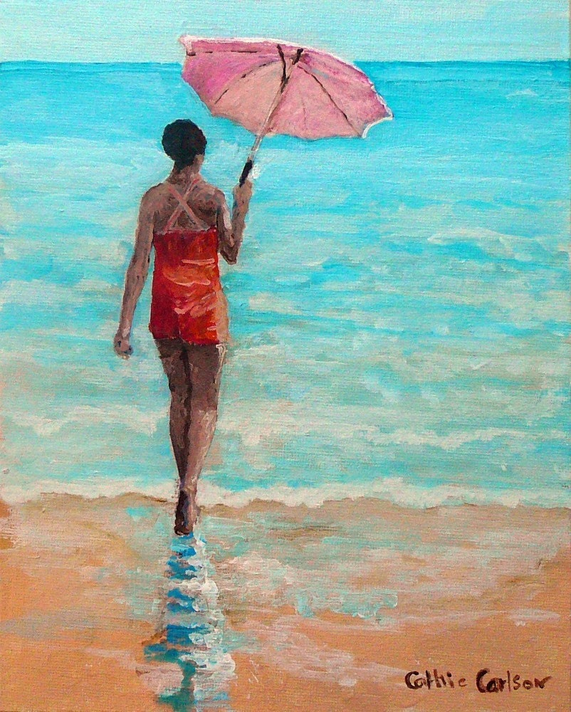 Beach Walk - Original Painting on Canvas