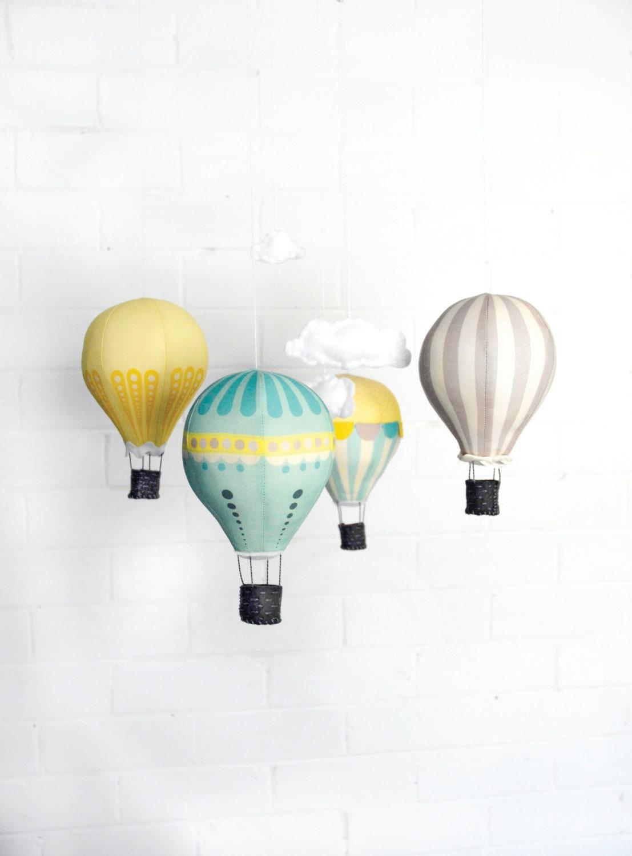 Hot Air Balloon Mobile Kit - Sunshine - CraftSchmaft