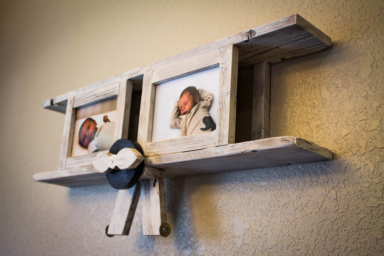 Airplane With Picture Frames From Reclaimed By
