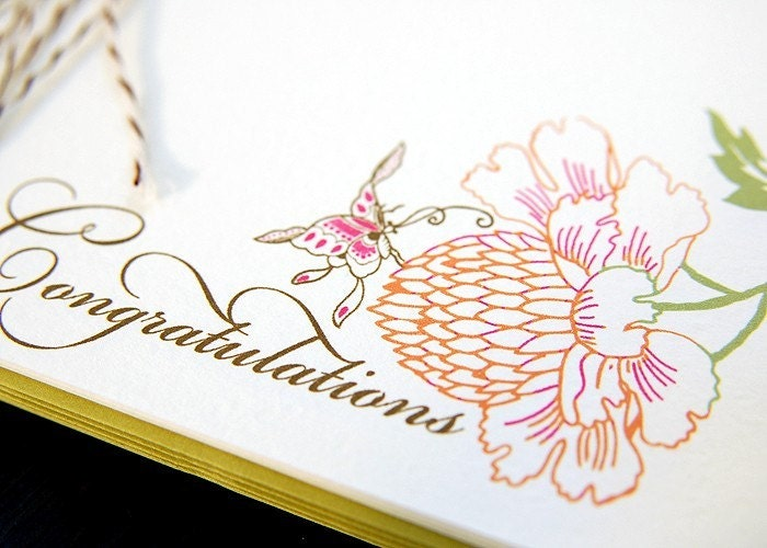 6 Congratulations Note Card Set