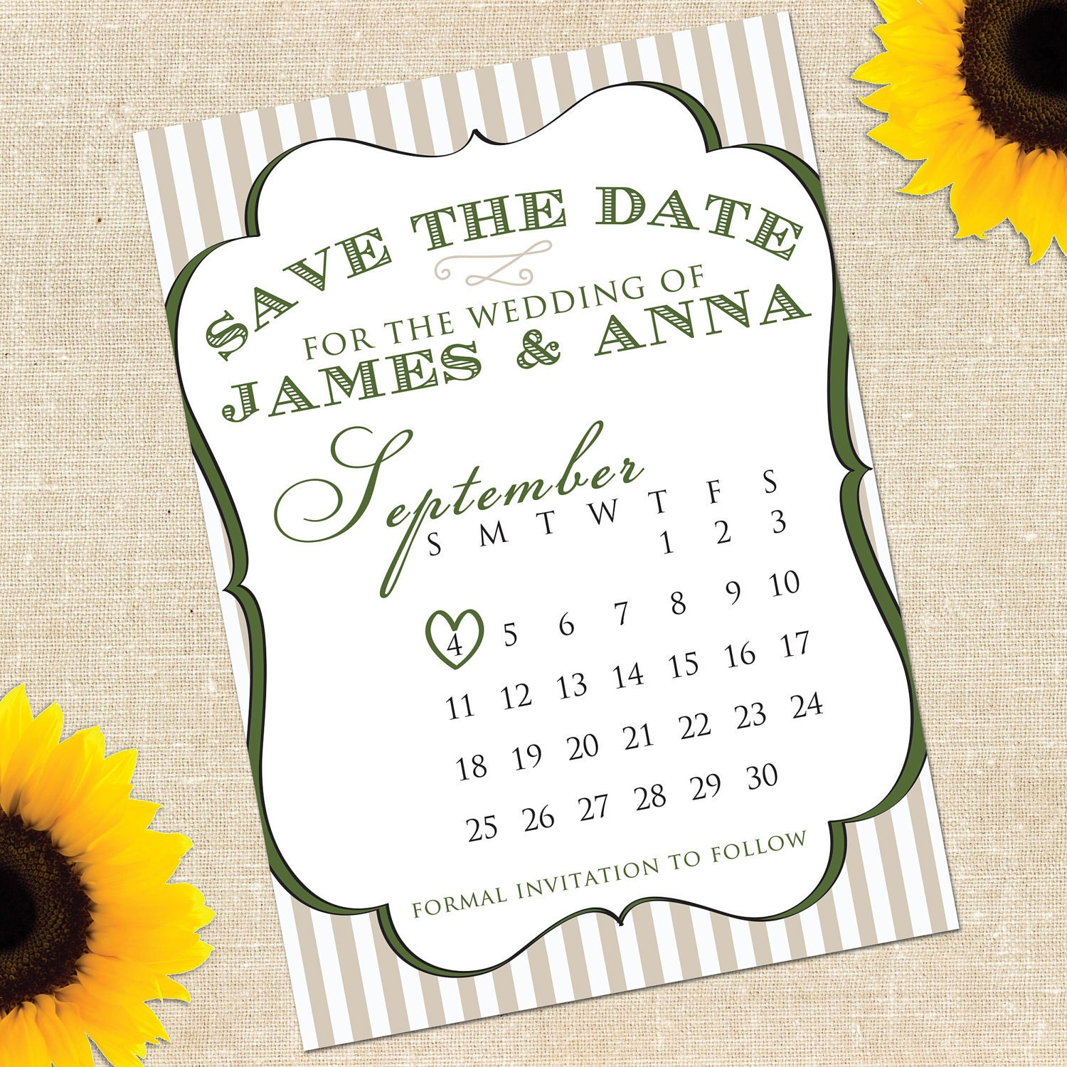 Items similar to share the luck sale diy printable desire save the date card on etsy for Printable save the date cards