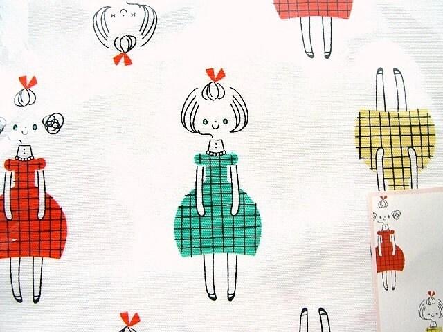 Cute Japanese Cotton Fabric-1 Yard-Cute Girls-Yuko Watanabe