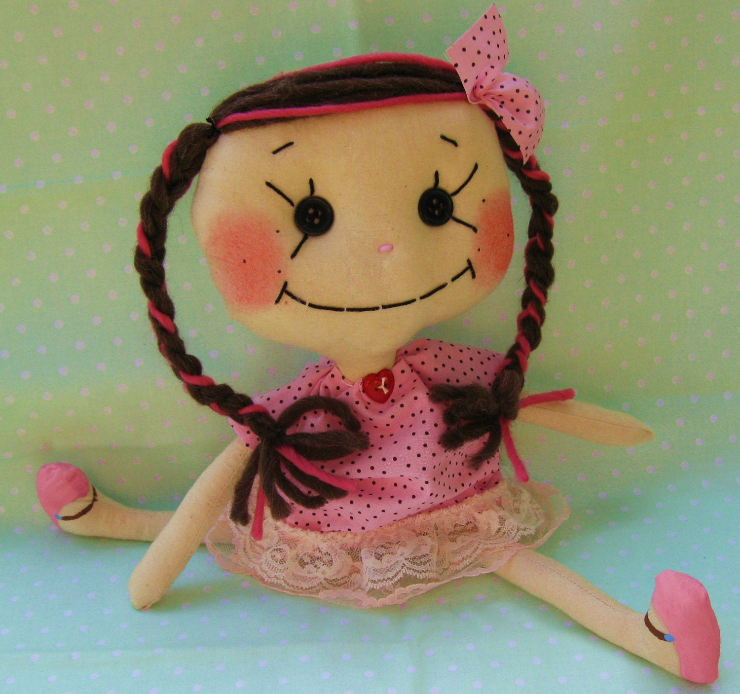 Chocolate Cherry Licorice Art Doll