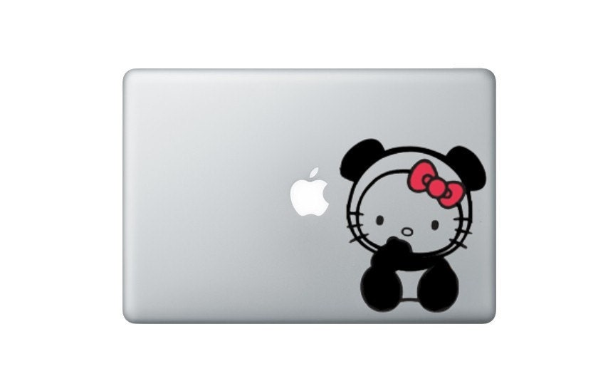 Hello Kitty PANDA - Laptop Vinyl Decal. From OvenMonsters