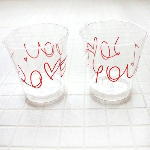 I Love You Desert Cup - 2pcs