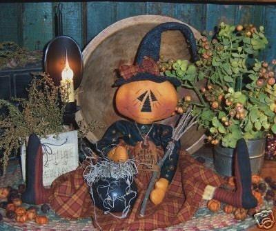 Primitive Olde Salem Broom Co. Witch Doll Pattern 138