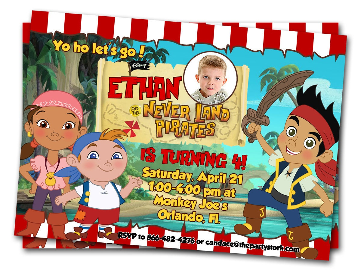 Jake and the neverland pirates party invitations - photo#2