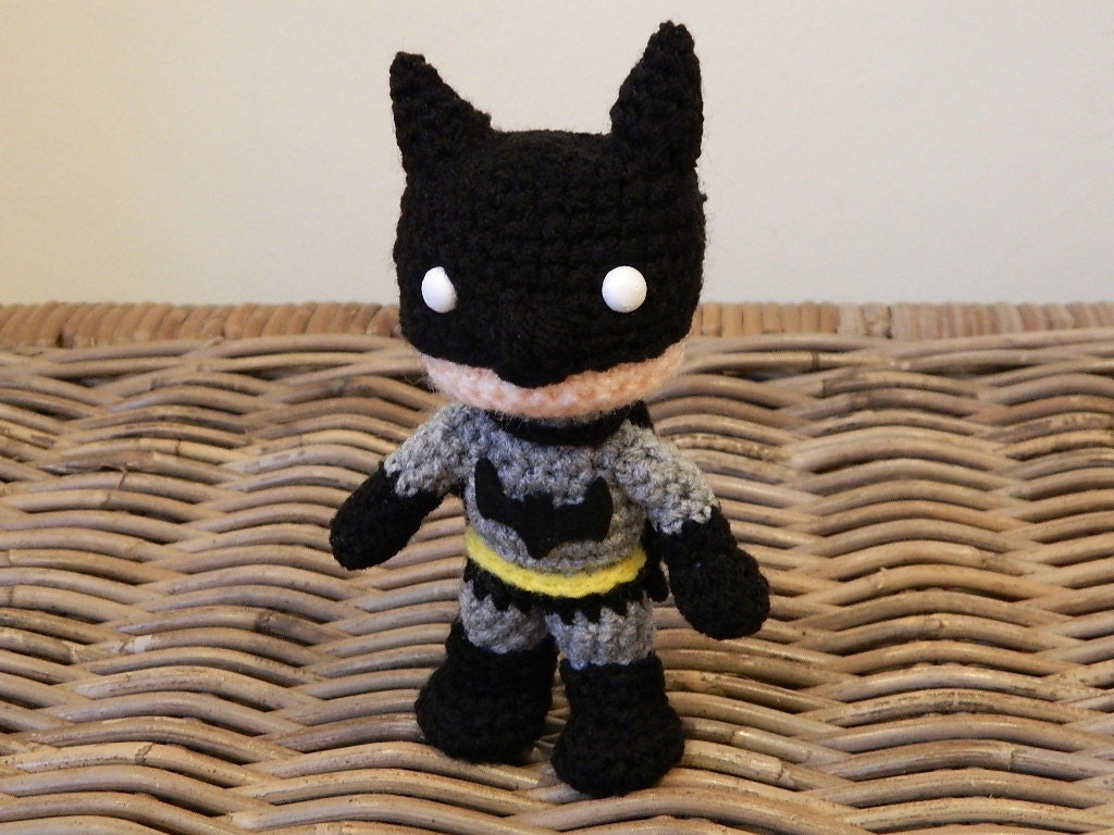 Amigurumi Crochet Batman : Batman crochet amigurumi chibi plush doll DC by ...