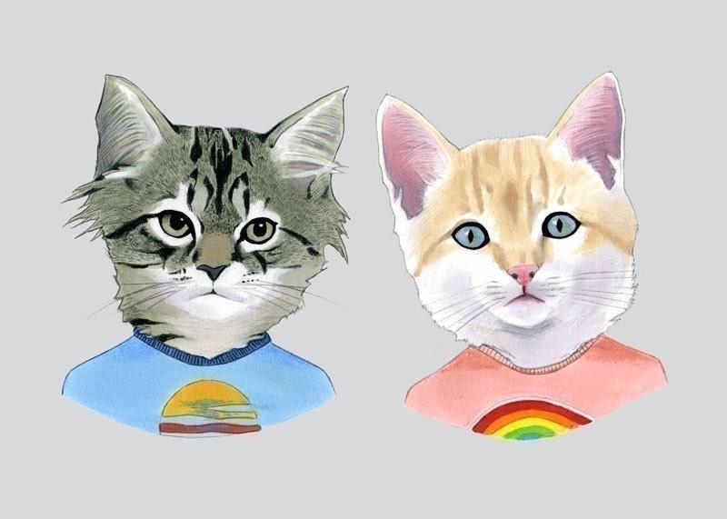 Kittens print 5x7