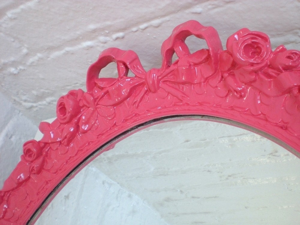 Hot Pink Bow Mirror
