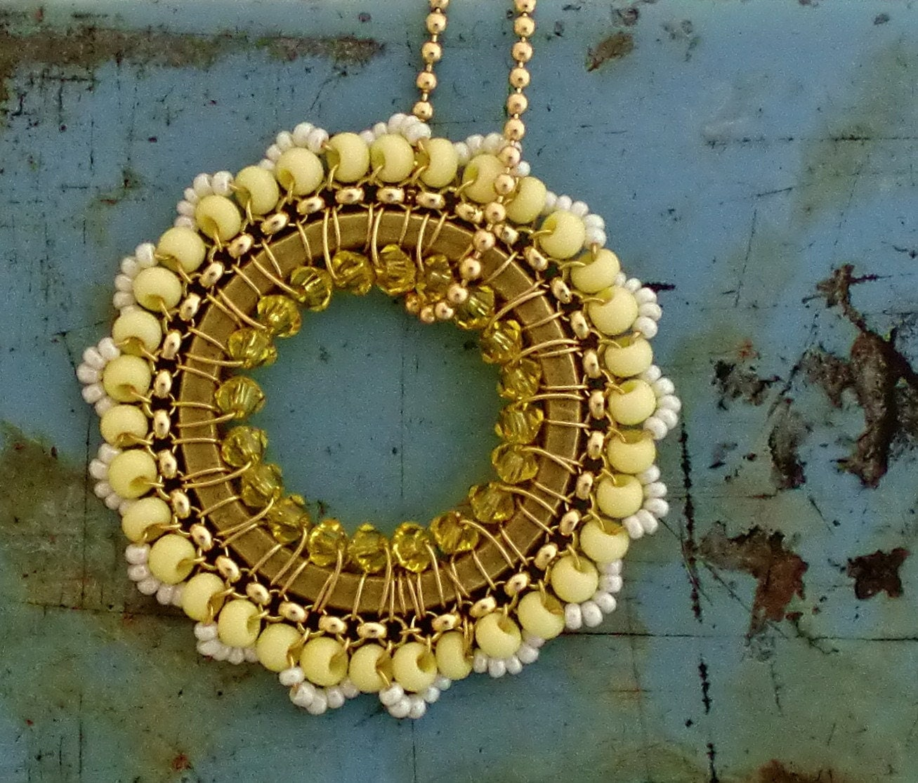 50% off SALE Louie's Mellow Yellow Necklace