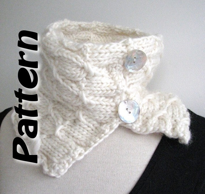 Scarf knitting pattern pdf bulky yarn easy written by SixSkeins