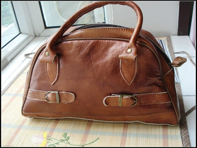 Brown hand bag- different color's cowhide handtailor35