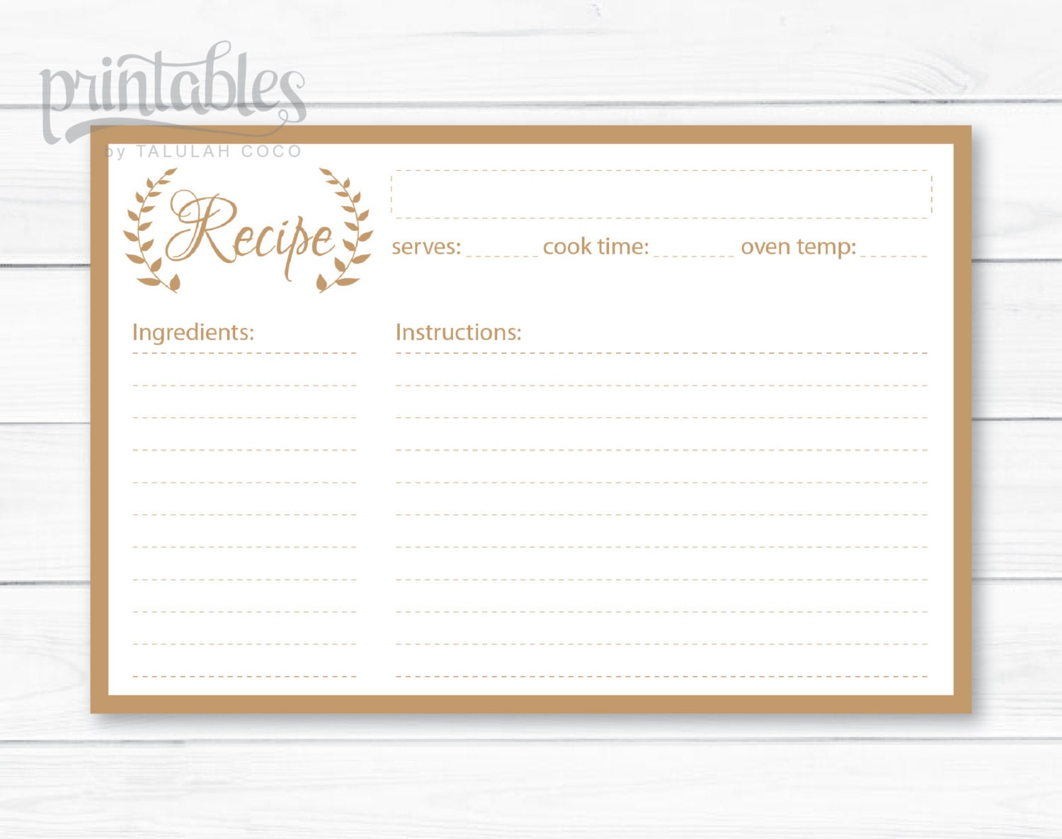 Doc720480 Recipe Card Template for Word Free Printable Recipe – Free Recipe Card Template for Word