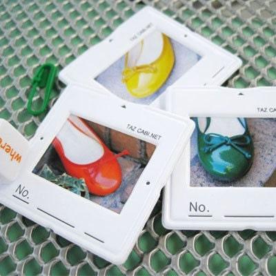 Slide Photo frame sticker set -white