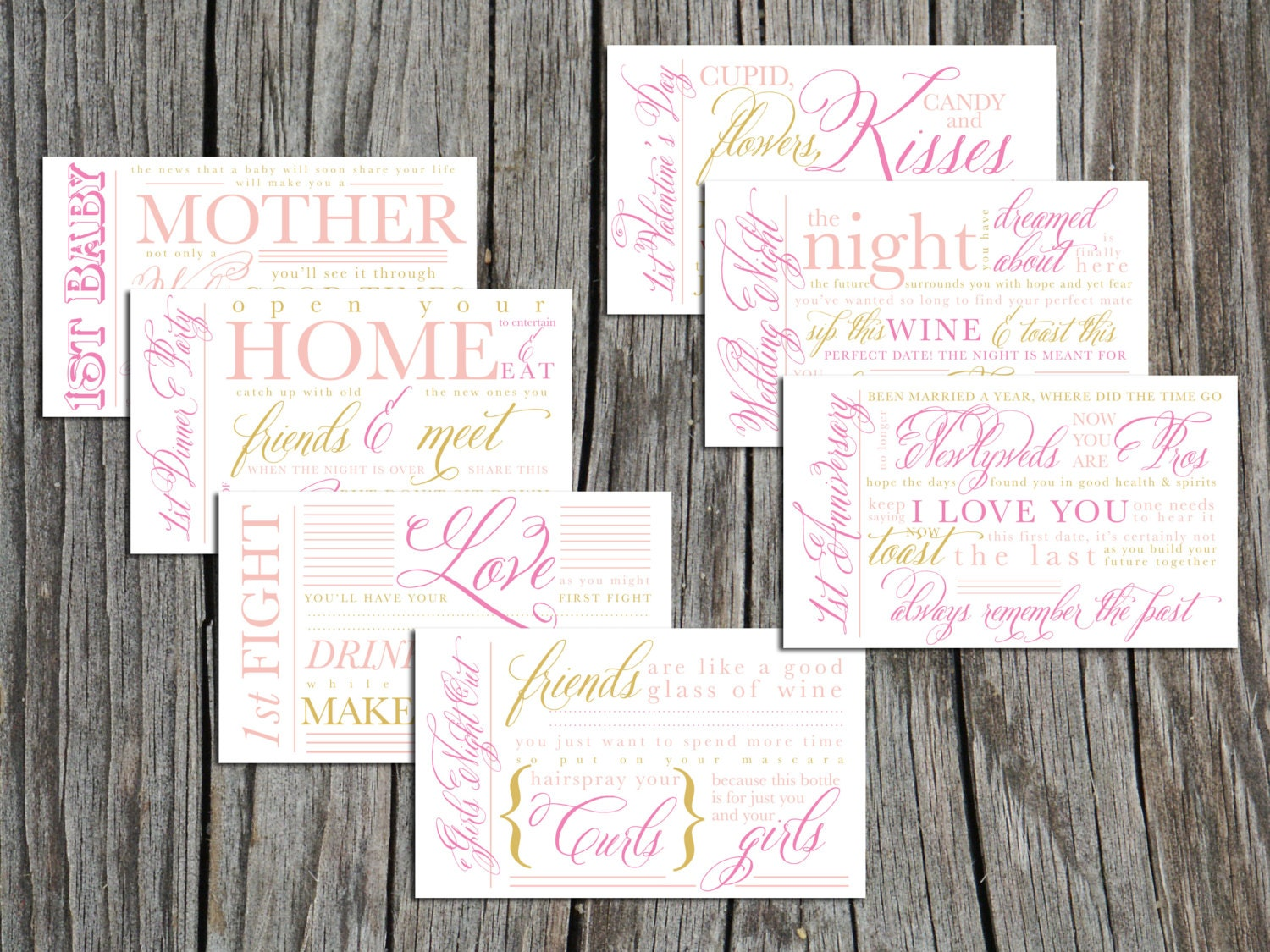 Printable Bridal Shower Wine Basket year of firsts by ...