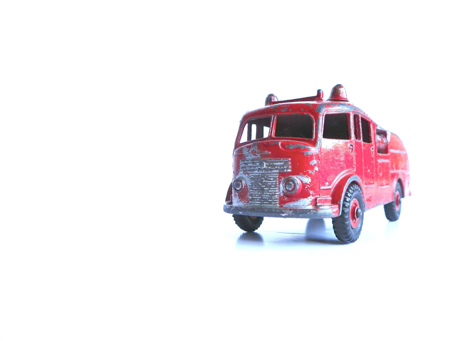 Vintage Toy Truck Fire Engine Dinky Toys Red By