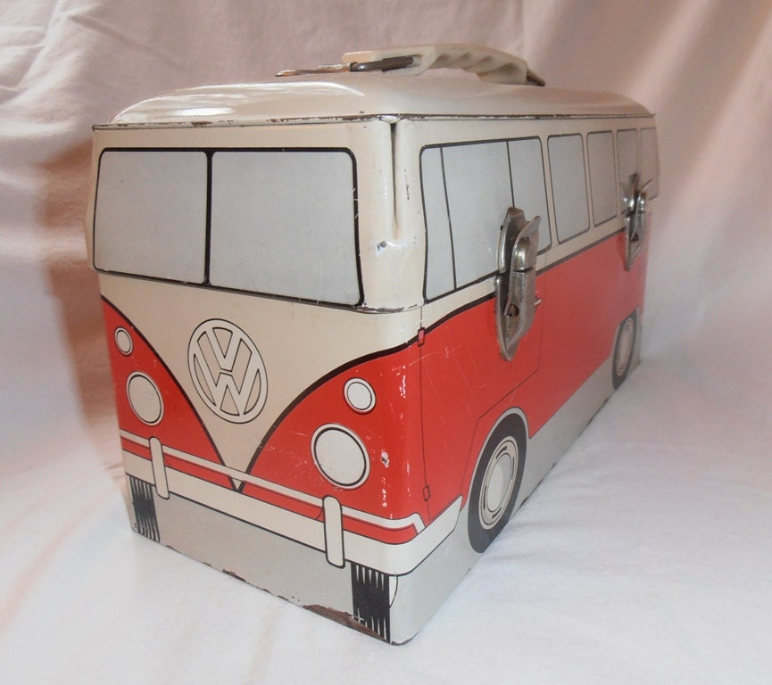 Where Can I Buy A Volkswagen Bus: VW Bus Metal Lunch Box From 1960 By Capraistic On Etsy
