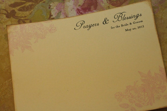 Wedding Prayers And Blessings Card Advice Cards By FaithfulCrafter