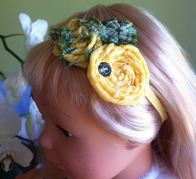 swarovski button headband, hairband for girl, for an adult, Easter - FairyDustHeadbands