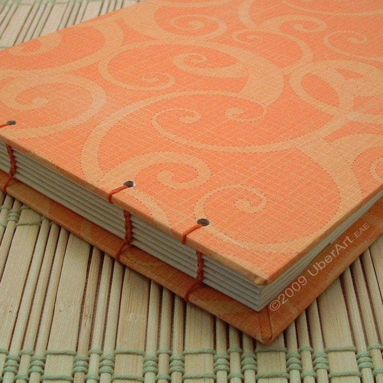 Mandarin and Marigold Guest Book Journal