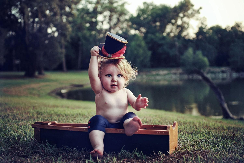 RESERVED FOR LAUREN Top Hat - Childrens Sailor Hat - Navy Blue Red Gold