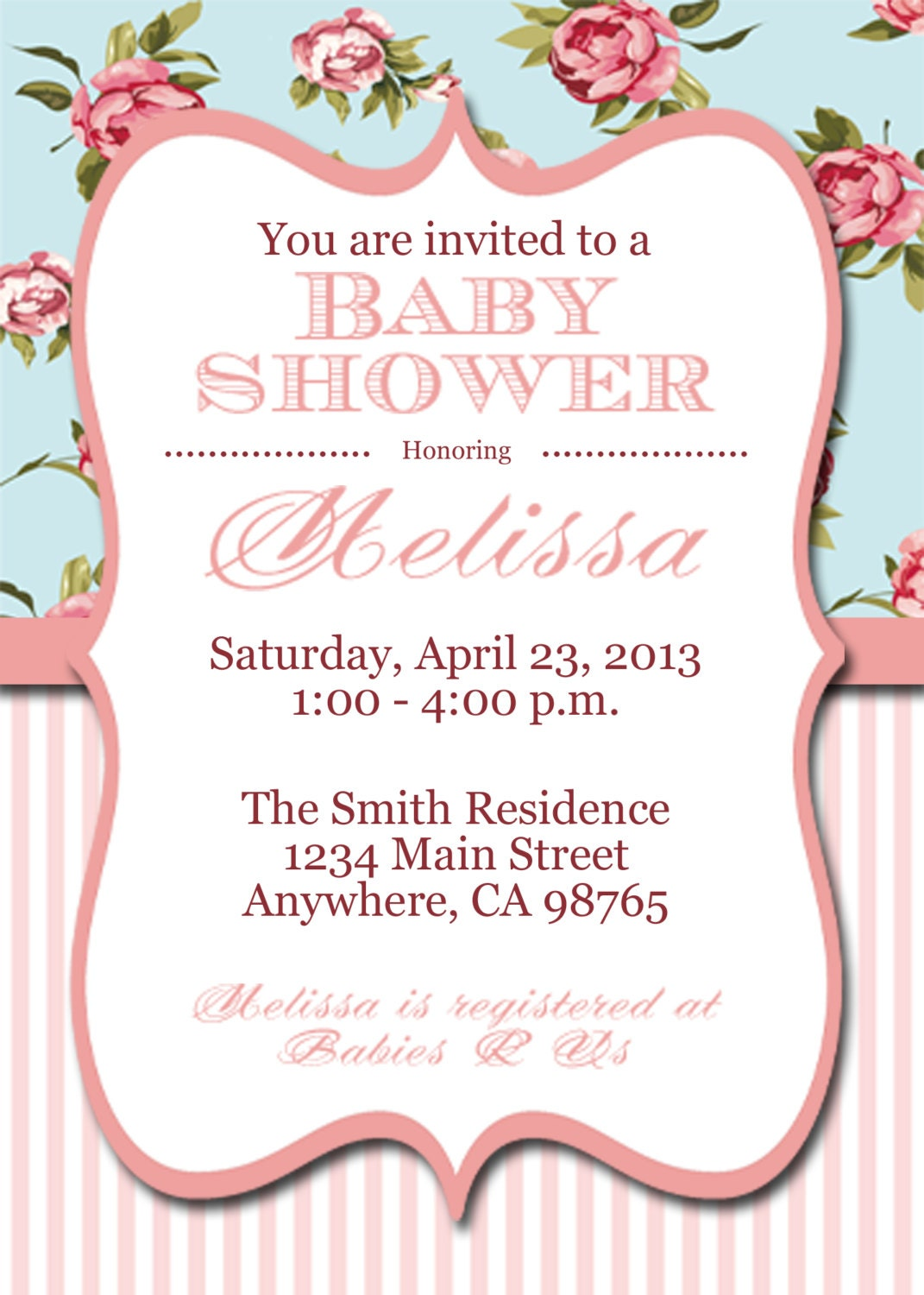items similar to printable shabby chic baby shower invitation on etsy