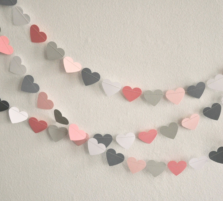 Gray And Pink Hearts
